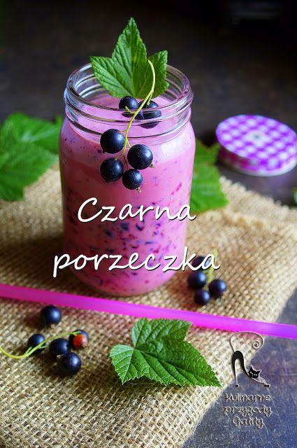 Kulinarne przygody Gatity: Jogurtowy koktajl z czarną porzeczką