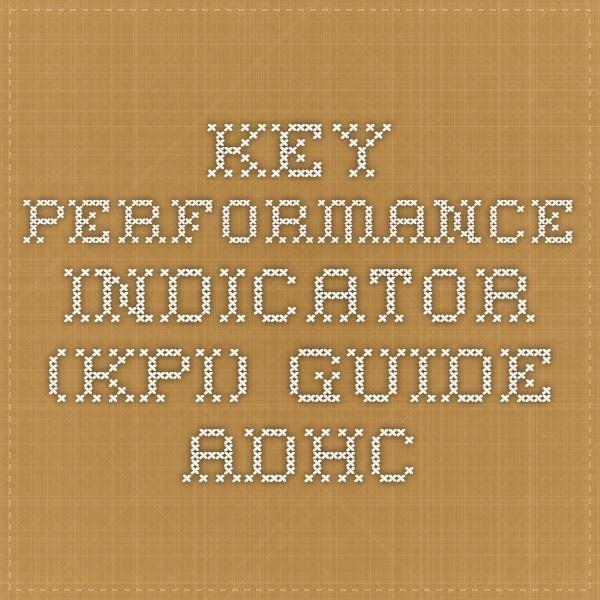 Key Performance Indicator (KPI) Guide - ADHC