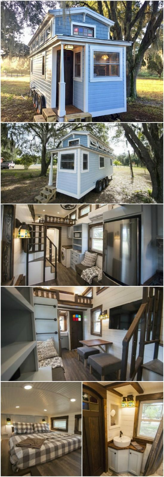 Contractor Designs and Builds Custom Tiny Home Full of Features - Adam Lehman has been a contractor for over 15 years with experience in everything imaginable from cabinets to luxurious multi-million dollar homes. His experience definitely shows in the quality of the craftsman-style tiny house that he built by himself. The immaculate tiny house called the Tiffany is now for sale for $72,000.