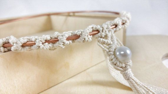 Rustic Stefana / Macrame Wedding Crowns / Orthodox Greek Wedding Crowns / Στέφανα Γάμου /Pearls / Wedding Tiaras / Circles Stefana