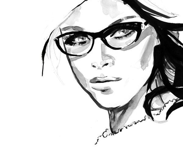 #charcoal #drawing #eyeglasses Glasses Pinterest