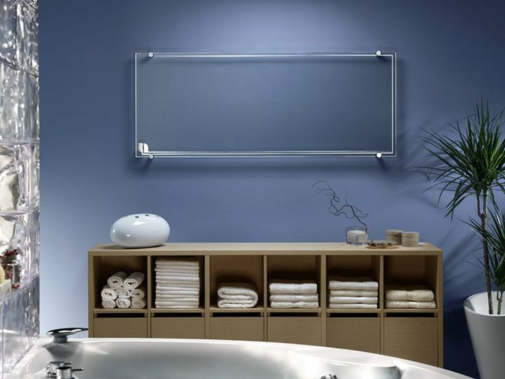 Electric radiator made of transparent glass by Thermoglance