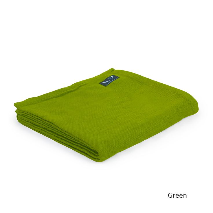 Organic Cotton Yoga Blanket in Forest Green