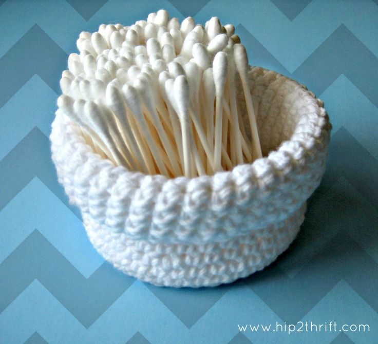 What a cute basket! Love the crocheted texture.