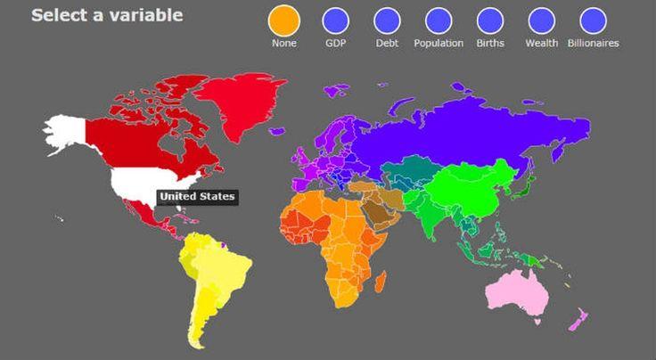 Чем больше ВВП, тем больше страна — необычная карта мира - Новости промышленности и бизнеса - Techno-aktor