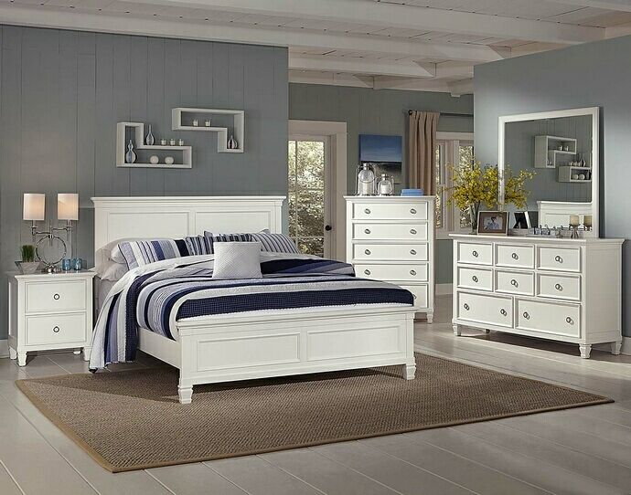 5 pc Tamarack collection white finish wood headboard queen bedroom set   This. 14 best Master Bedroom Furniture images on Pinterest   3 4 beds