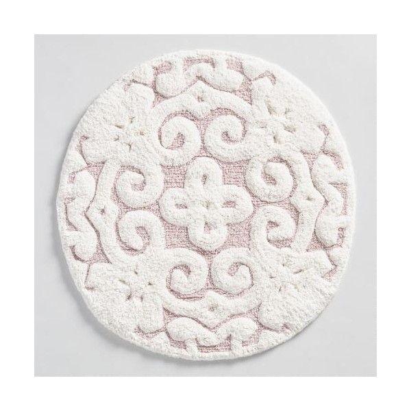 Cost Plus World Market Blush Round Medallion Tufted Bath Mat   15    liked  on. 17 Best ideas about Pink Bath Mats on Pinterest   Rose bath  Pink