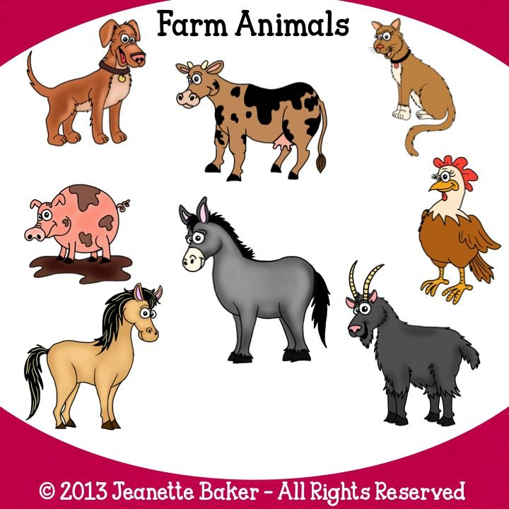 Classroom Quilt Ideas ~ Farm animals clip art by jeanette baker