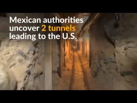 Mexico uncovers tunnels leading to the U.S. that were apparently used by the drug cartel by 'El Chapo'  Mexican authorities find two tunnels running from Tijuana to the United States that were apparently used by the drug cartel headed by Joaquin 'El Chapo' Guzman.