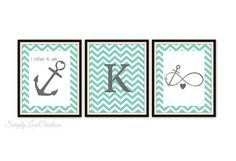 Infinity Anchor Print  // I refuse to sink by SimplyLoveCreations, $33.00