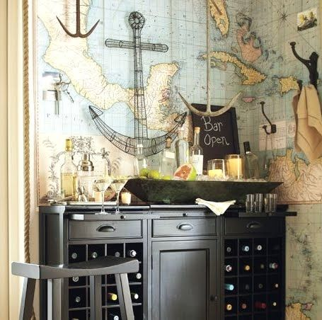 Home decor wallpaper coastal