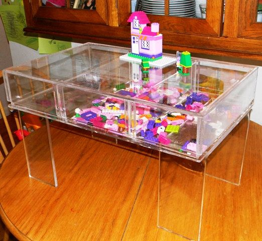 Coffee Table With Retail DisplayChildrens Lucite Play