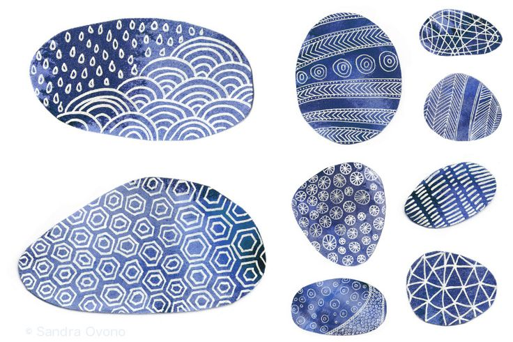 Indigo blue pebbles and patterns   Flickr - Photo Sharing!