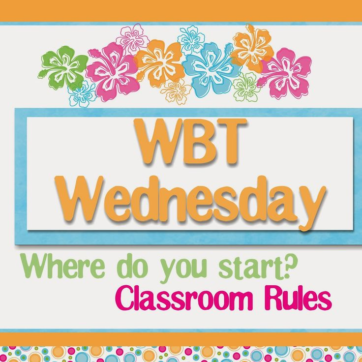 Transitional Kinder with Mrs. O: WBT Wednesday- Where to Start?