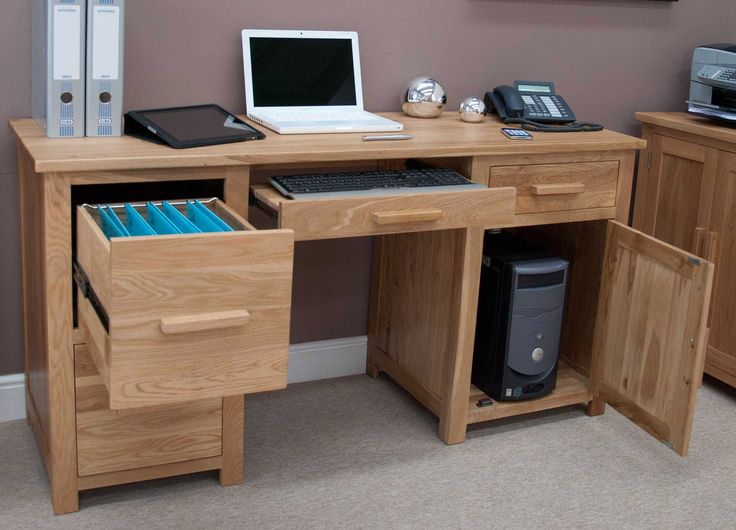 large computer desk designed for applicable decoration