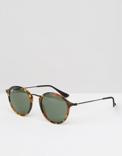 Ray-Ban | Ray-Ban Round Tortoise Sunglasses with Metal Bridge