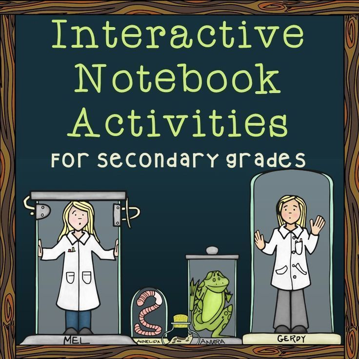 Blog post featuring tons of interactive notebook activities for middle and high school