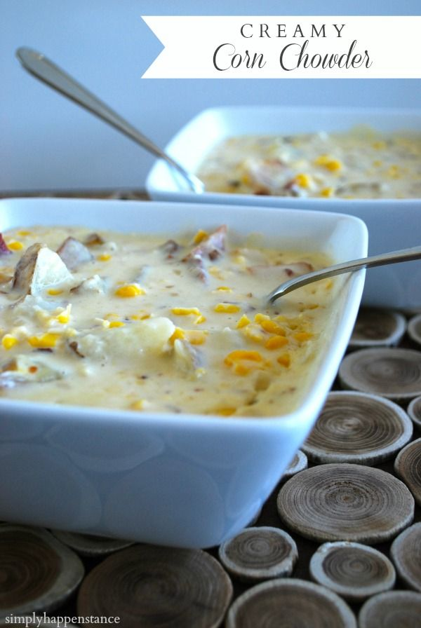 **I of course added a few extra slices of bacon. Super yummy!**Creamy Corn Chowder - from @::simply happenstance::
