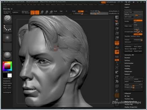 Ryan Kingslien talks about a way to sculpt hair in Zbrush.