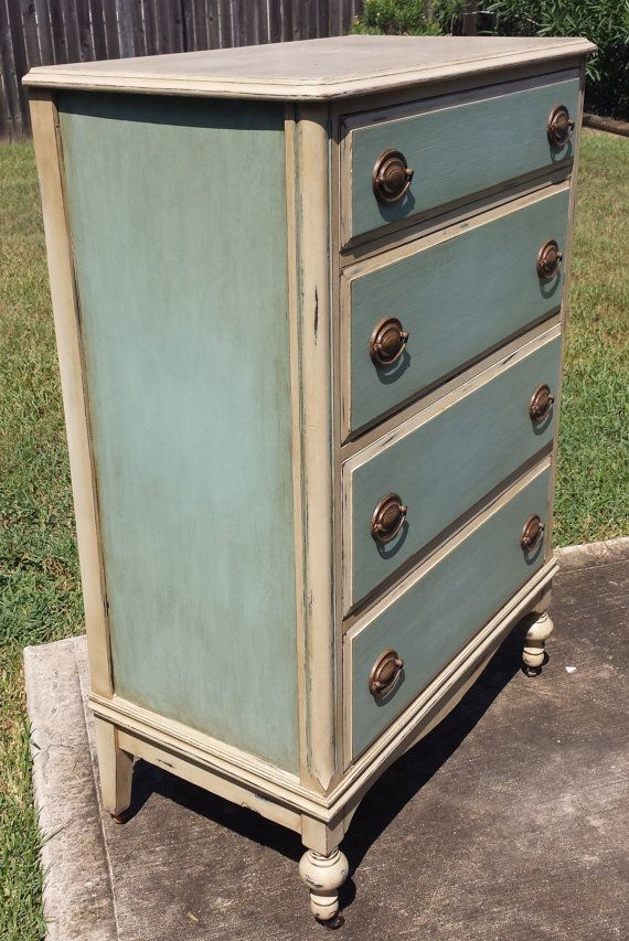 Gorgeous Antique Dresser Custom Chalk by InteriorsDesignedTX | FURN  SURFACES - 9 SECTIONS | Pinterest | Dresser, Paint furniture and Chalk paint - Gorgeous Antique Dresser Custom Chalk By InteriorsDesignedTX