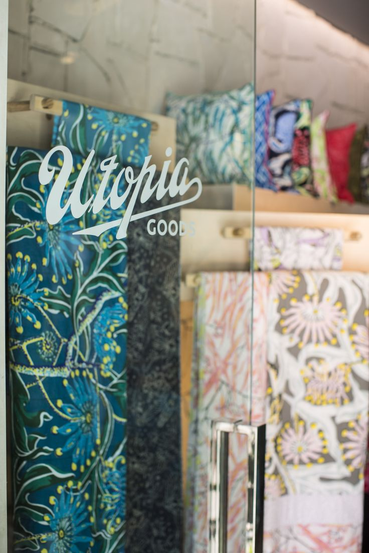 Utopia Goods Pop Up store featuring new firewheel quilts.
