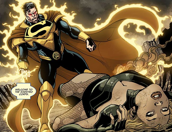 Yellow Lantern Superman kills Black Canary!?  Just when you think Superman can't get any more evil, the unhinged hero uses his heat vision to kill Black Canary in Injustice: Gods Among Us: Year Two #22. Canary and Harley Quinn swore vengeance against Superman after he killed both of their baby daddies: Green Arrow and the Joker.  #comics  http://l7world.com/2014/09/yellow-lantern-superman-kills-black-canarys-baby.html