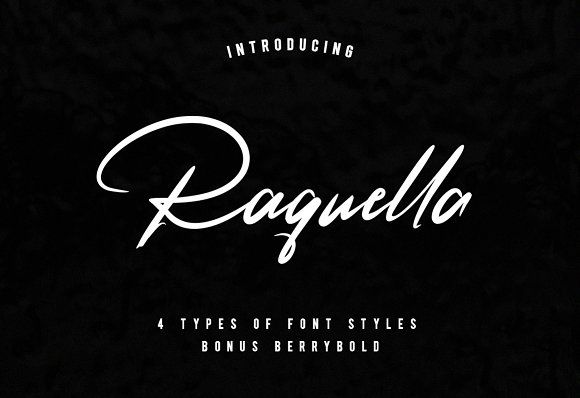 Raquella 4 Font by Ijemrockart / Letterplay on @creativemarket