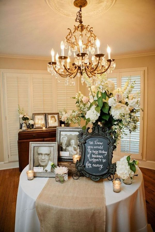 15 Wedding Memorial Table Decoration Ideas For Those Who Are Forever In Our Hearts Emmalovesweddings Memory Table Wedding Wedding Remembrance Wedding Memorial
