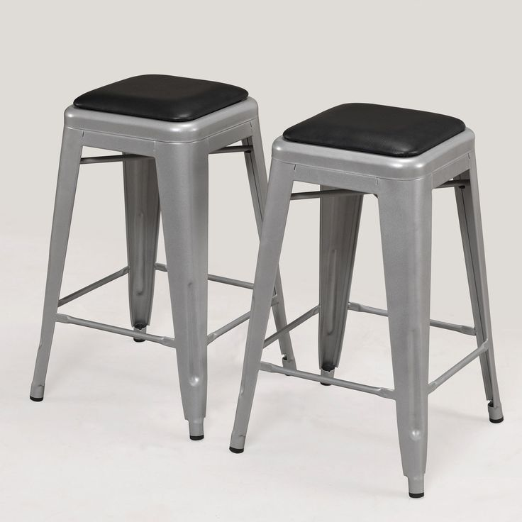 Tabouret inch Padded Metal Counter Stool set of 2 Overstock Shopping
