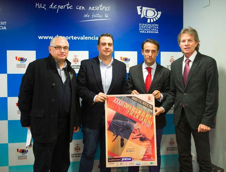 Presentación de las copas del Rey y de la Reina de atletismo que se celebran en Valencia
