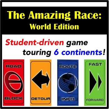 The 12 best images about geography lessons on pinterest the the amazing race classroom edition includes customizable clue templates maxwellsz