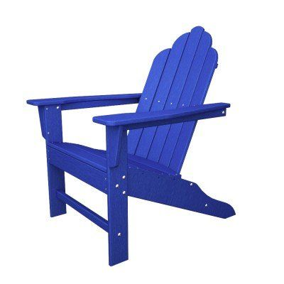 (CLICK IMAGE TWICE FOR UPDATED PRICING AND INFO) #adirondack #chairs #chair #patio #patiochairs #yardchairs #deckchairs #outdoorchairs Poly-Wood Long Island Adirondack Chair, Pacific Blue « zPatioFurniture.com