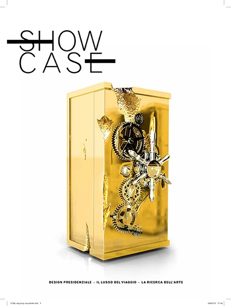 Millionaire Safe Box featured on the cover of ShowCase, Italy!www.bocadolobo.com