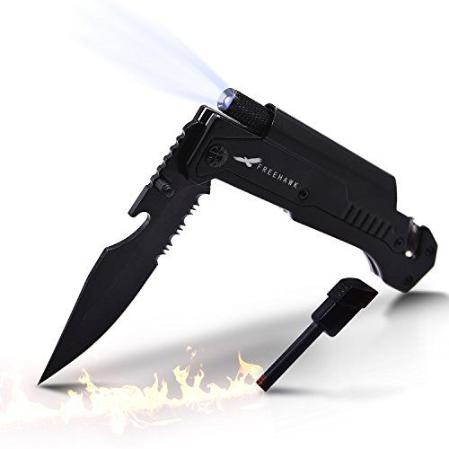 Freehawk Multifunctional Potable Outdoor Knife Survival Tactical Knife Outdoor Folding Knife with Led Light, Flintstone for Outdoor Adventure, Camping, Household. For product info go to:  https://all4hiking.com/products/freehawk-multifunctional-potable-outdoor-knife-survival-tactical-knife-outdoor-folding-knife-with-led-light-flintstone-for-outdoor-adventure-camping-household/