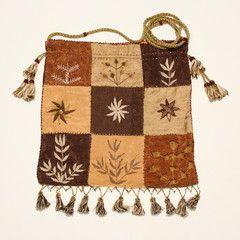 Embroidered shoulder bag