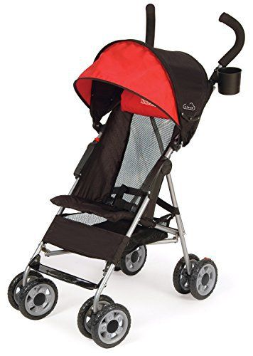 "The Kolcraft Cloud Umbrella Stroller gives parents standard stroller features in the form of a travel-friendly umbrella stroller. Stroller weighs only 9.5 lbs., so it is easy to carry along. The folded dimensions of the stroller are 10"" W x 9.5"" D x 42.5"" H. Simple and compact..."