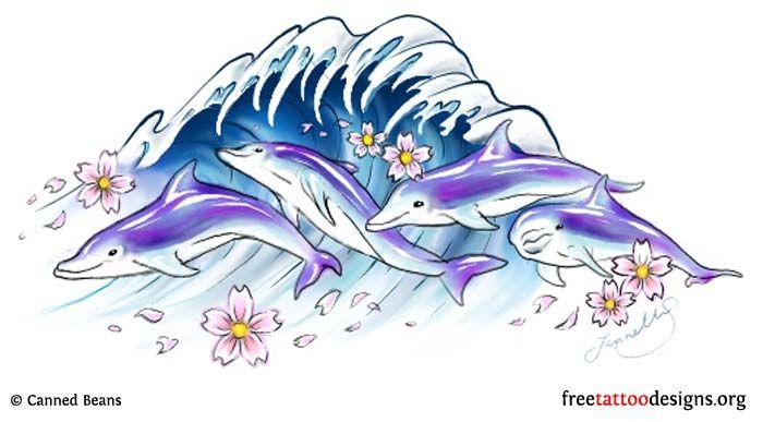 Dolphins tattoo design