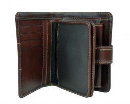 Unisex kožená peňaženka vyrobená z prírodnej kože. Kvalitné spracovanie a talianska koža. Ideálna veľkosť do vrecka a značková kvalita pre náročných (5)