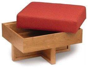 Frank Lloyd Wright® Taliesin Storage Ottoman - modern - ottomans and cubes - by YLiving.com