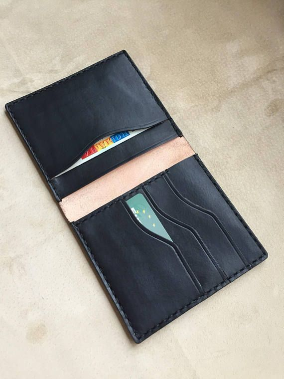 Slim wallets/ wallets/ leather cardholder personalized/slim wallet/ handmade/ aged leather effect/ Christmas gift/gift for him/ Black dyed