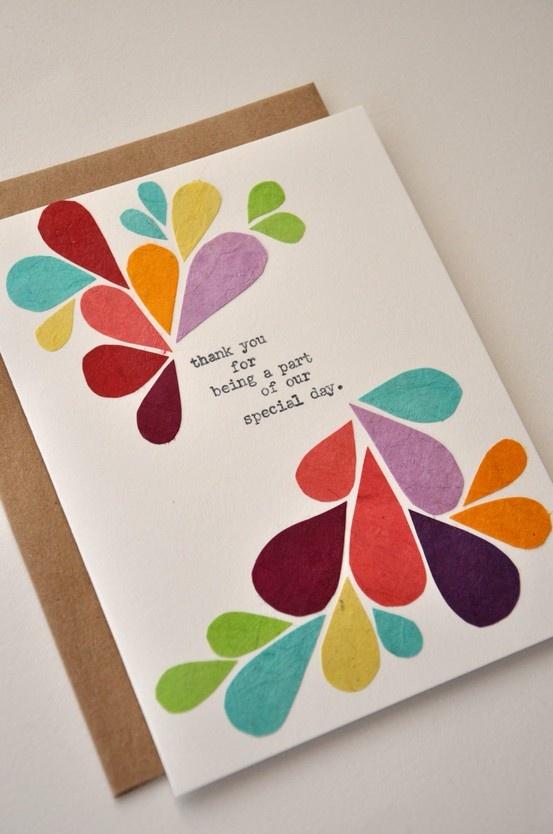 Thank You Card - Handmade Greeting Card -