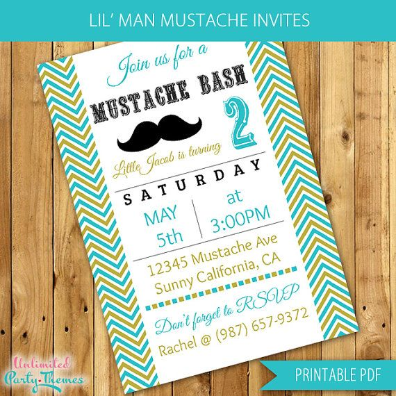 httpsipinimg736x546507546507dc515c61c – Little Man Birthday Party Invitations