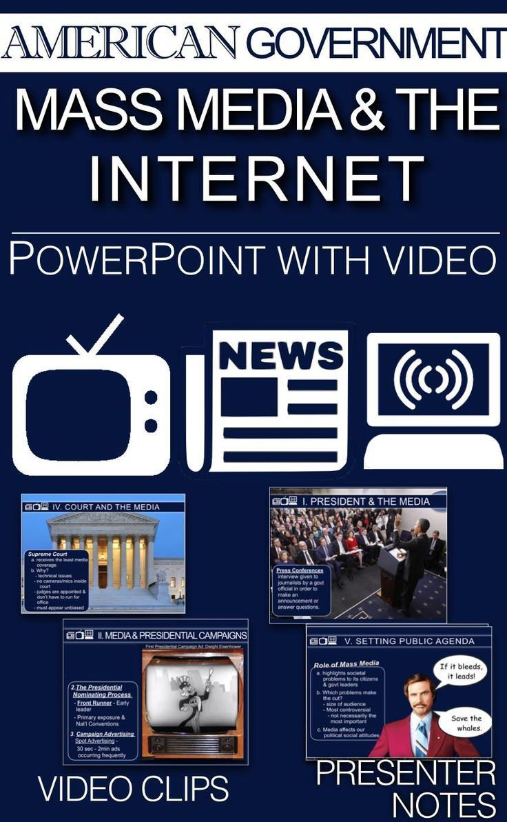 Government Mass Media The Internet Powerpoint W Video Clips Presenter Notes In 2020 Government Mass Media Teaching Government