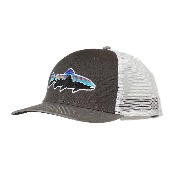 Patagonia fitz roy trout trucker hat gear pinterest for Patagonia fishing hats