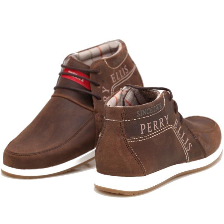 Perry Ellis zapatos de hombre 91200 Chocolate comprar vender