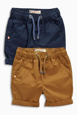 Buy Navy/Stone Pull-On Shorts Two Pack (3mths-6yrs) online today at Next: United States of America