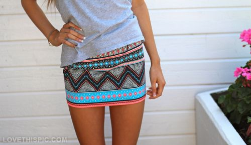 Short skirt fashion girly colorful pretty hot clothes skinny