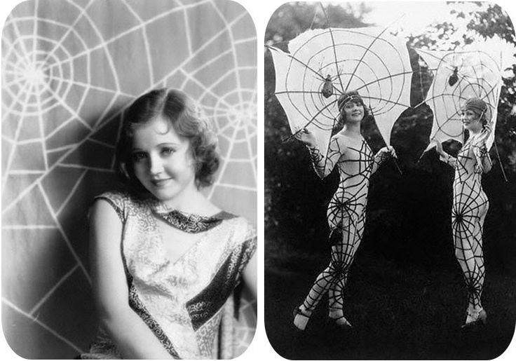 Holy spiderweb costume, batman!! No, wait-- SPIDERWOMAN!! Great 1920's halloween costume