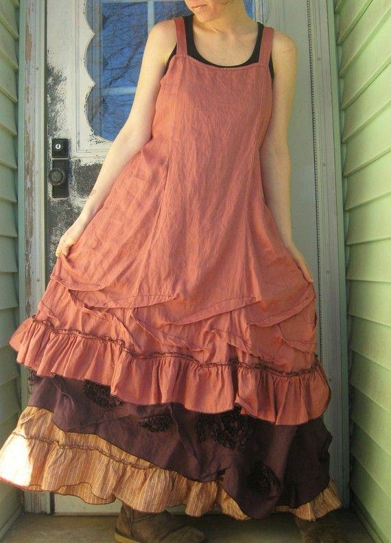 Kurzes Rüschen Slip Kleid von sarahclemensclothing auf Etsy