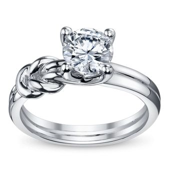 14kw eng ring semi mtg on the side engagement rings and